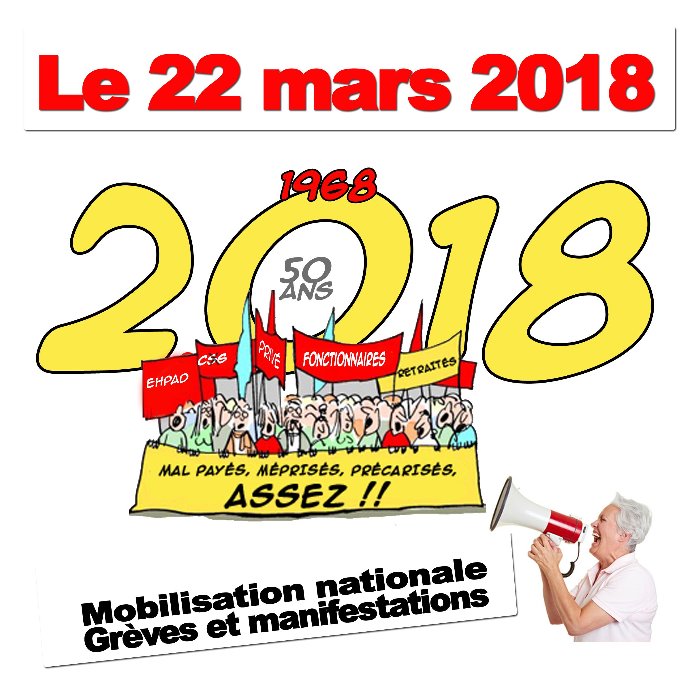 Mobilisation nationale le 22 mars 2018