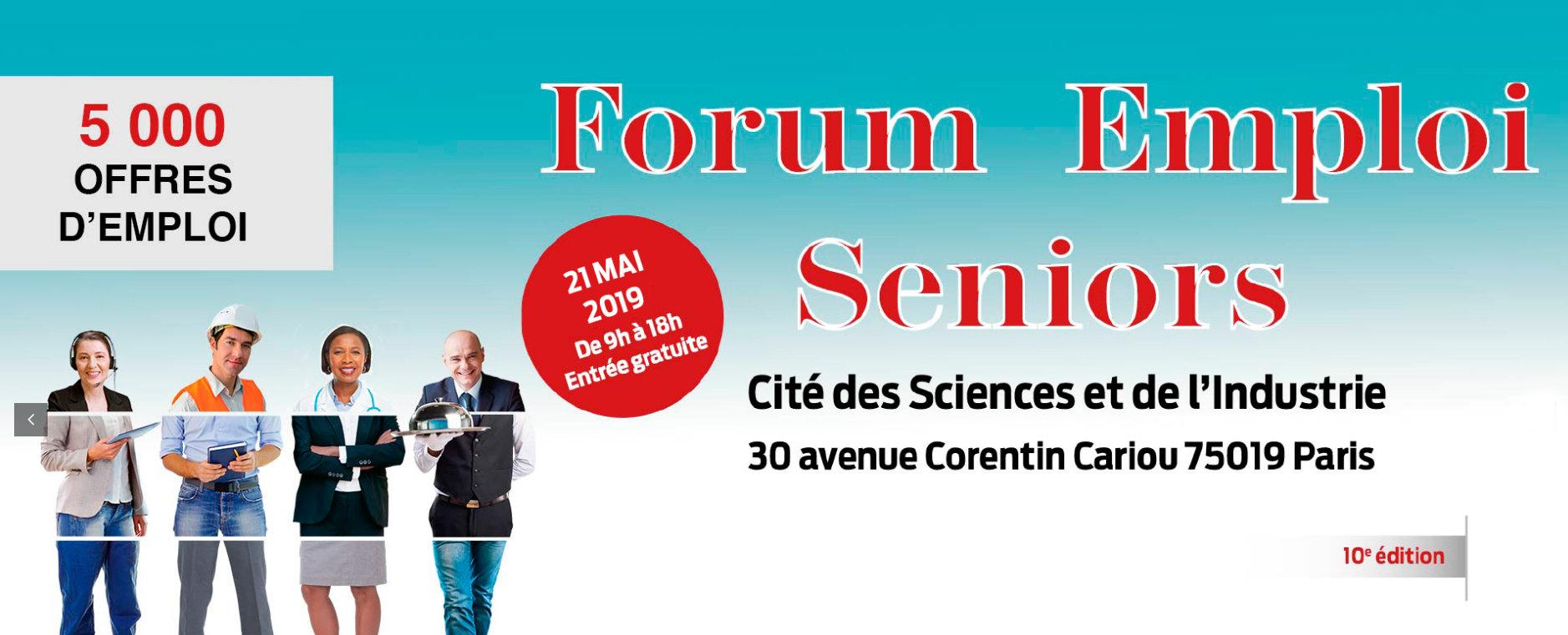 Retrouvez la 10ème édition du Forum de l'emploi Seniors