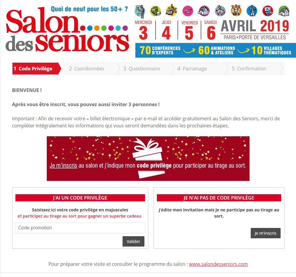 Téléchargez votre invitation gratuite pour »le salon des Seniors 2019»