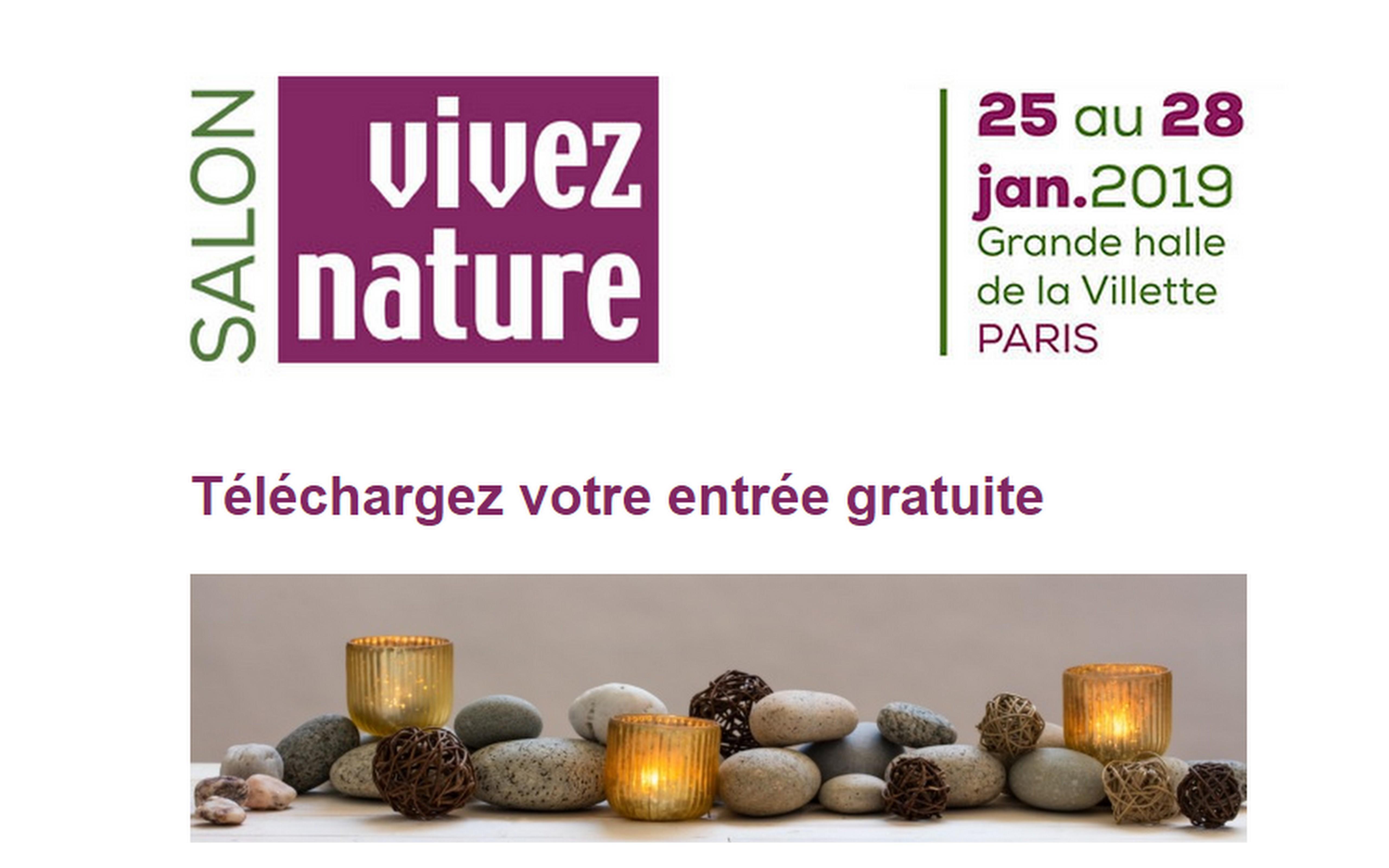 Téléchargez votre invitation gratuite pour le salon »VIVEZ NATURE »